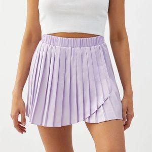 NWT LA Hearts Pleated Purple Tennis Skirt, large